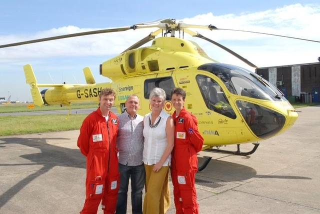 Helicopter heroes have raised almost £70k for Yorkshire Air Ambulance