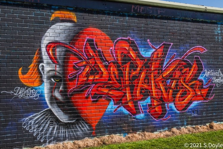 No clowning around as Honley Open Gallery turns graffiti into street art