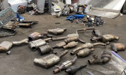 Police crackdown on thefts of catalytic converters and the precious metals they contain