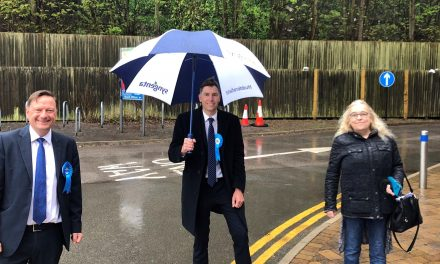 Tories smiling in the rain as Adam Gregg wins Lindley and Bernard McGuin holds Almondbury