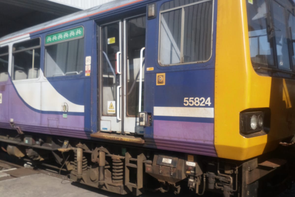 This is when Platform 1 Pacer train is due to arrive at Huddersfield Railway station – by air