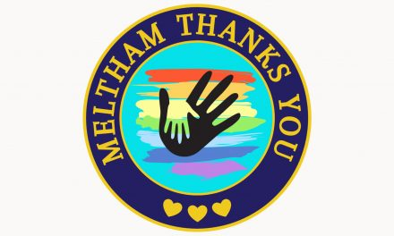 Badge of honour for volunteers who were the Pride of Meltham