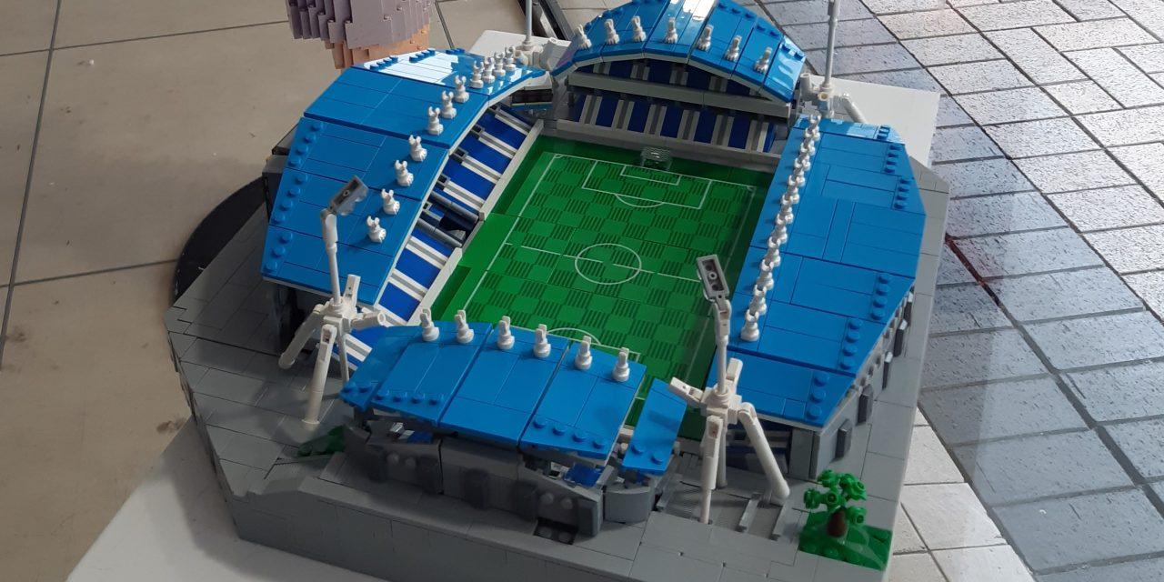 John Smith's Stadium model builds interest in town centre Lego trail