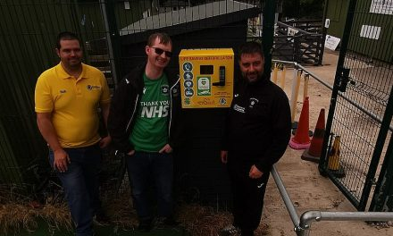 Golcar United has the community at heart with installation of life-saving defibrillator