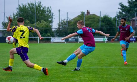 Report and gallery of pictures from Emley AFC Academy's 3-0 victory over Huddersfield Town Academy