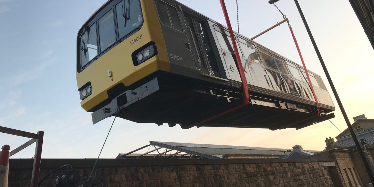 We have lift off! Exclusive pictures and video as Pacer train is craned into Huddersfield Railway Station