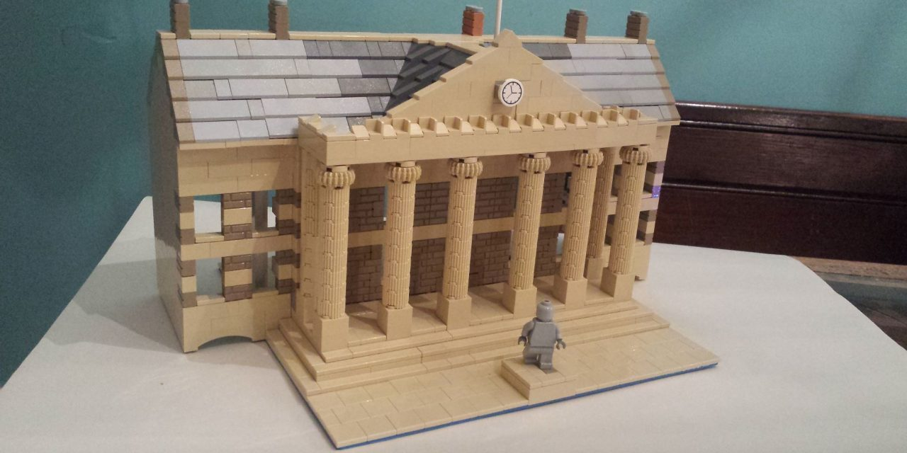 Huddersfield Railway Station, Harold Wilson statue and the George Hotel as you've never seen them before