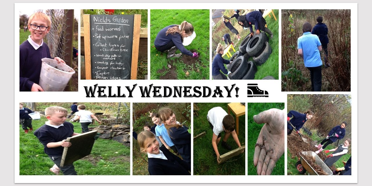 Parents at Nields School give it some welly and win an award for their garden