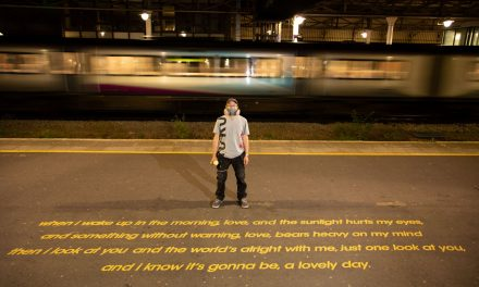 Street artist behind Marcus Rashford mural etches lyrics of Lovely Day by Bill Withers on platform 1 at Huddersfield Railway Station