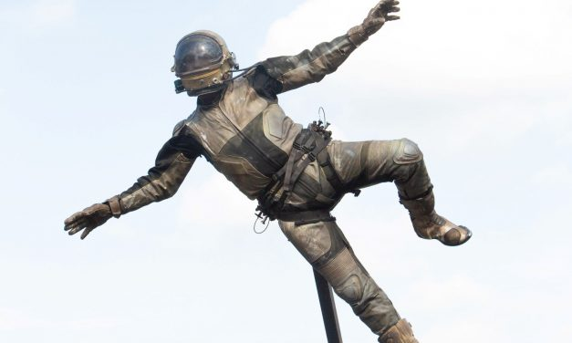 Gallery of pictures from Holmfirth Arts Festival as a flying astronaut wows the crowds