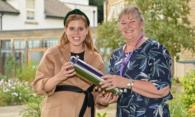 HRH Princess Beatrice buries time capsule at Forget Me Not Children's Hospice to mark its 10th anniversary