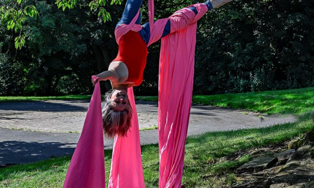 Circus artists hanging from trees, a flying astronaut and music, comedy and dance – welcome back Holmfirth arts festival