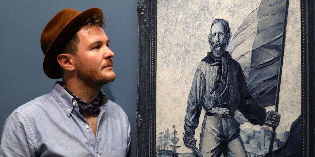 How Ian Berry's amazing denim tribute to Italian hero Giuseppe Garibaldi helps uncover the fascinating history of blue jeans