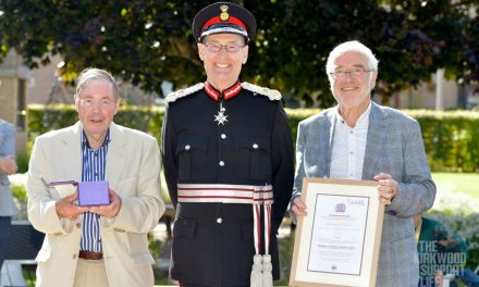 Volunteers at The Kirkwood receive Queen's Award for Voluntary Service from the Lord Lieutenant of West Yorkshire