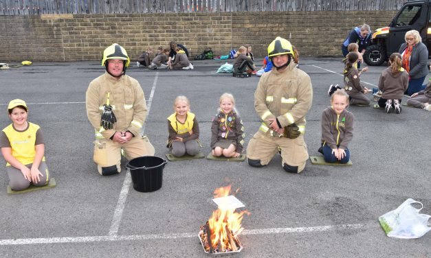 Brownies and Guides light fires at Slaithwaite Fire Station in first face-to-face event after Covid-19
