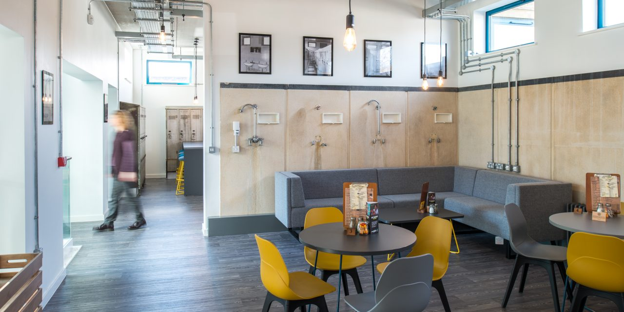 Town centre bath house transformed into chic cafe with roof terrace is among winners in Huddersfield Design Awards