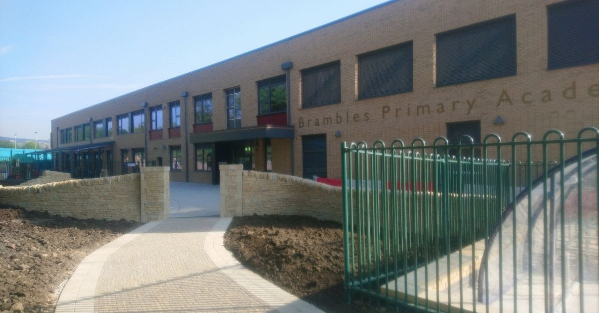 Staff and pupils excited over completion of the new Brambles Primary Academy